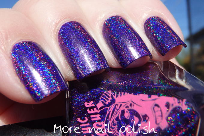 Lucid Lala Land A Bold And Pigmented Blue With Strong Holo Flame Again This Is Just Single Coat I Ve Only Ever Seen The Dance Legend Holos Have
