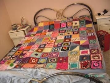 Ecco la coperta dell'amicizia terminata, non è bellissima ??