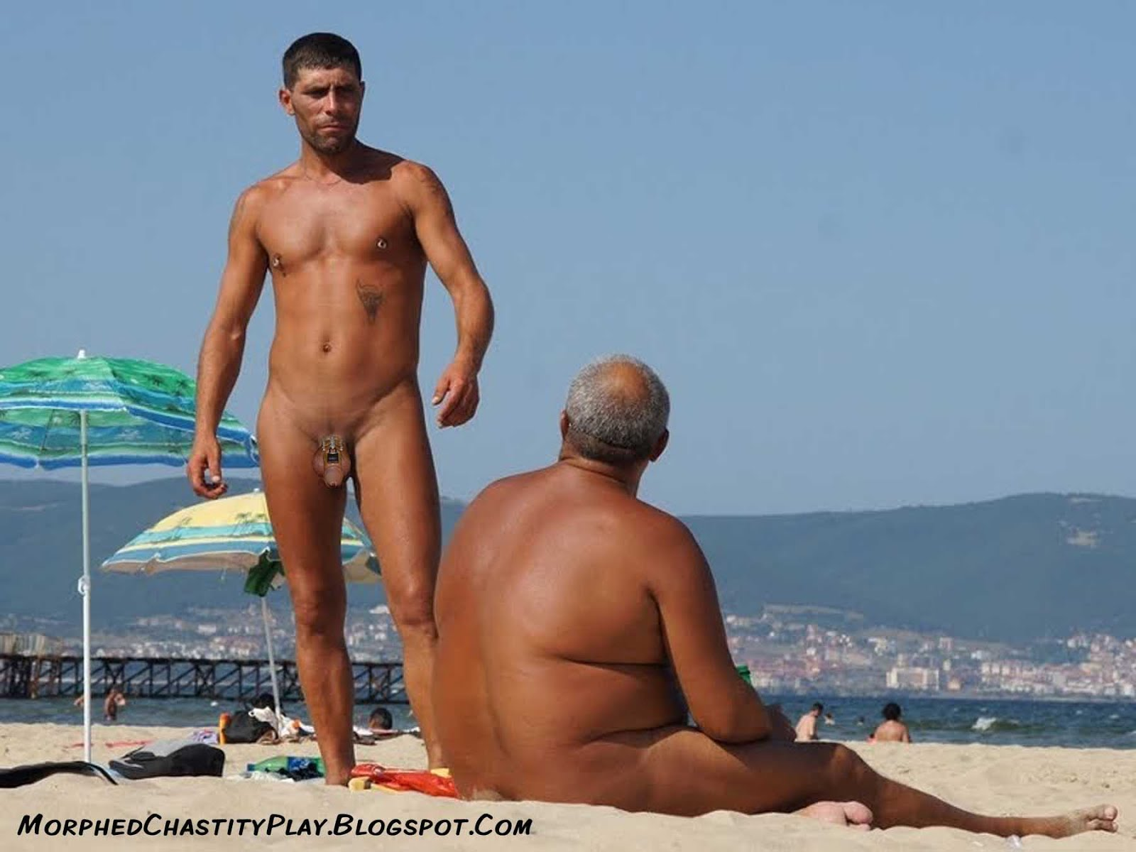 Male Chastity Beach