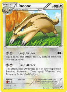 Linoone Primal Clash Pokemon Card