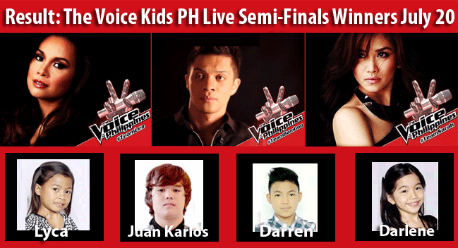 Result: The Voice Kids PH Live Semi-Finals Winners July 20 Advanced to Grand Finals