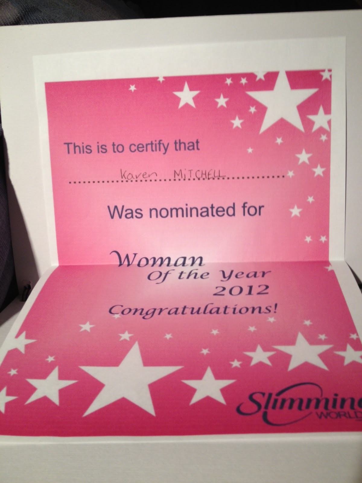 The slimming world files my awards The slimming world