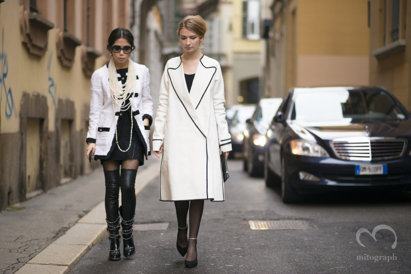 Oksana On and Maria Kolosova attend to Fashion Show during Milan Fashion Week MFW