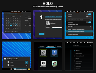 Holo Ice Cream Sandwich GNOME Shell theme