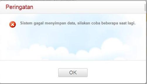 Gagal Simpan Data Instrumen PK Guru Padamu Negeri