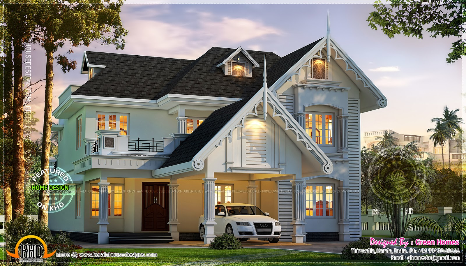 Awesome European Style House In Kerala Home Kerala Plans