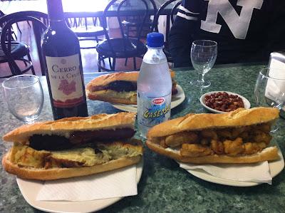 Almuerzos populares - Bocadillos del bar mutua del taxi de Valencia