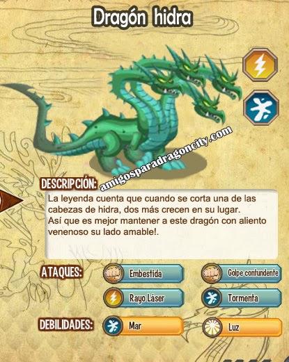 imagen de las caracteristicas del dragon hidra