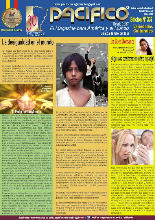 Revista Pacífico Nº 337 Variedades Culturales