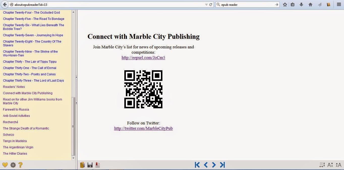 Marble City Publishing back matter on EPUBReader