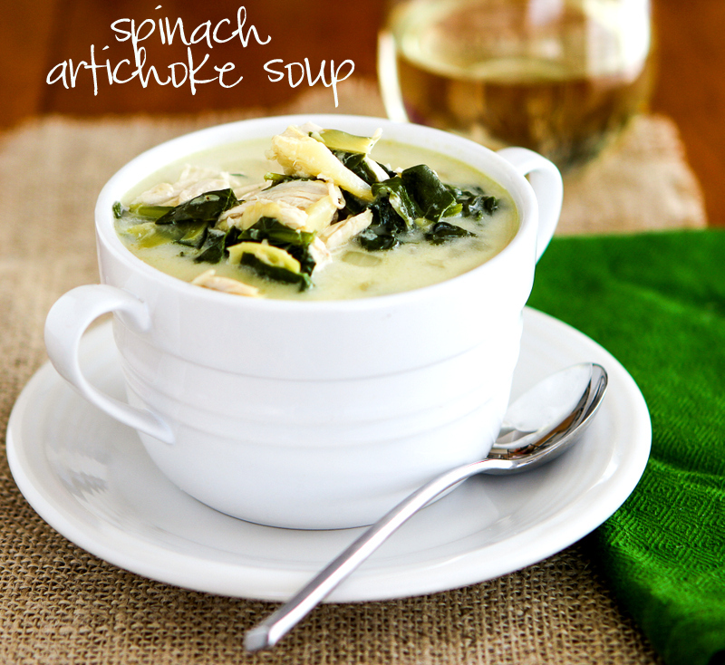 Chasing Some Blue Sky: Spinach Artichoke Soup