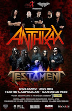 Recitales en Chile : Mayo                                                       Anthrax y Testament