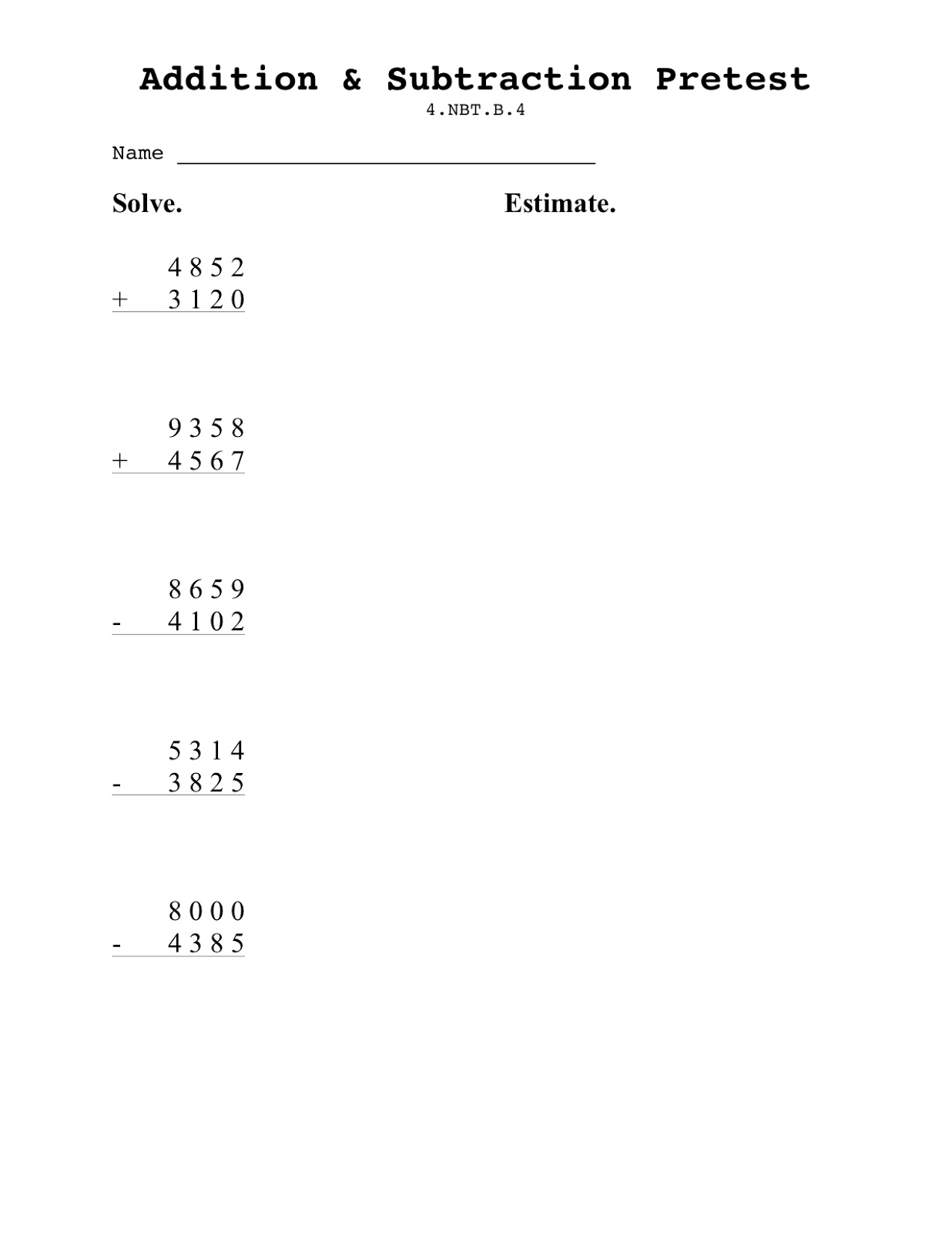 Teaching Seriously Assessing Addition and Subtracting for – 3 Digit Subtraction with Regrouping Across Zeros Worksheets