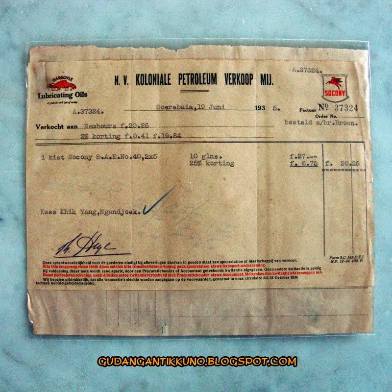 Nota Kuno Tahun 1935