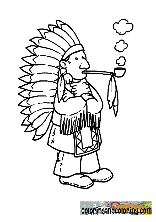 coloring pages indian chief - photo#14