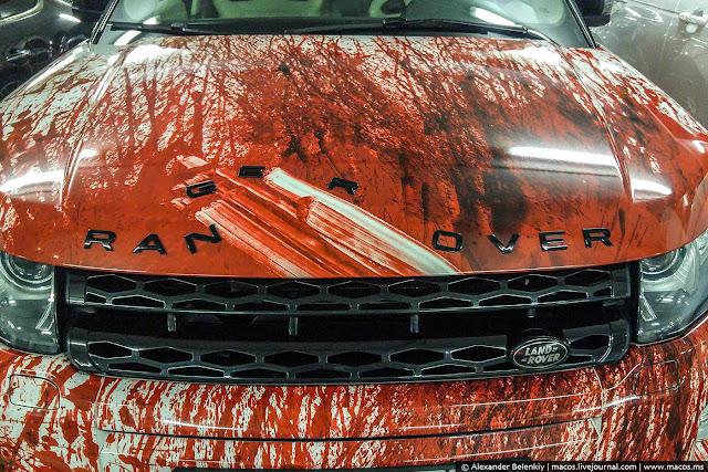 Das Bild des Tages: Der Ran Over Range Rover | Auch Autos können für Halloween passend gestaltet werden