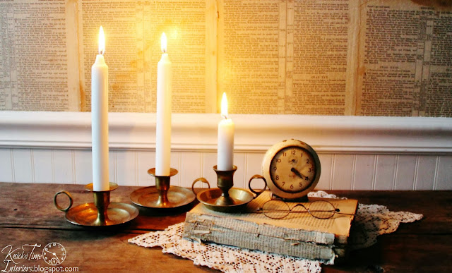 Vintage Brass Candle holders via Knick of Time Interiors