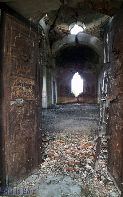 intrare biserica ruina gostinari