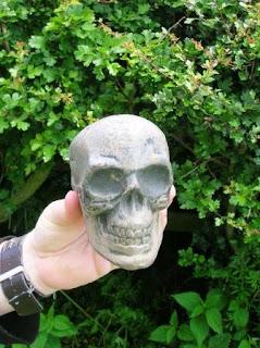 Skull geocache container