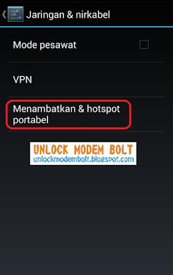 Menambatkan & Hotspot Portable
