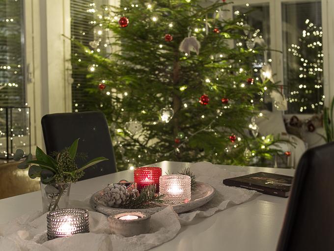 tunnelmallinen joulukoti joulukuusi