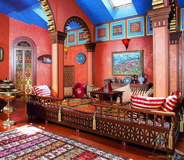 Desigrans interior style contemporary styling mexican for Moroccan house design