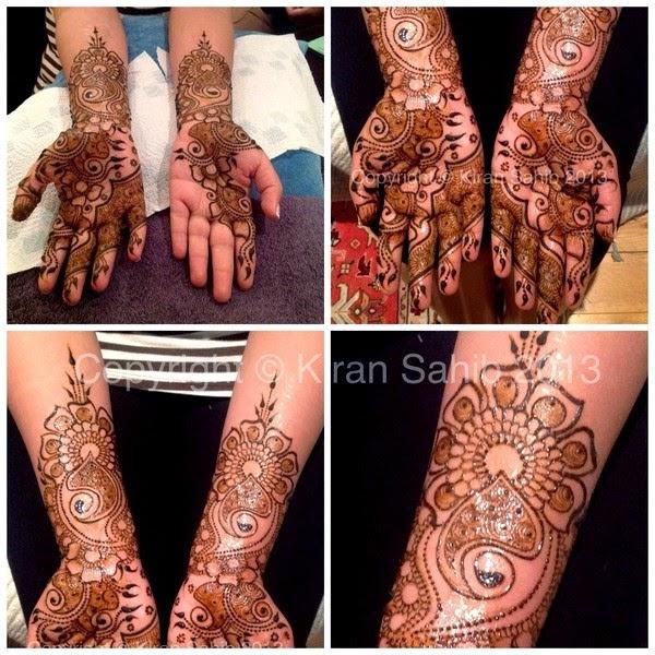 Full Hand Mehendi Designs by Kiran