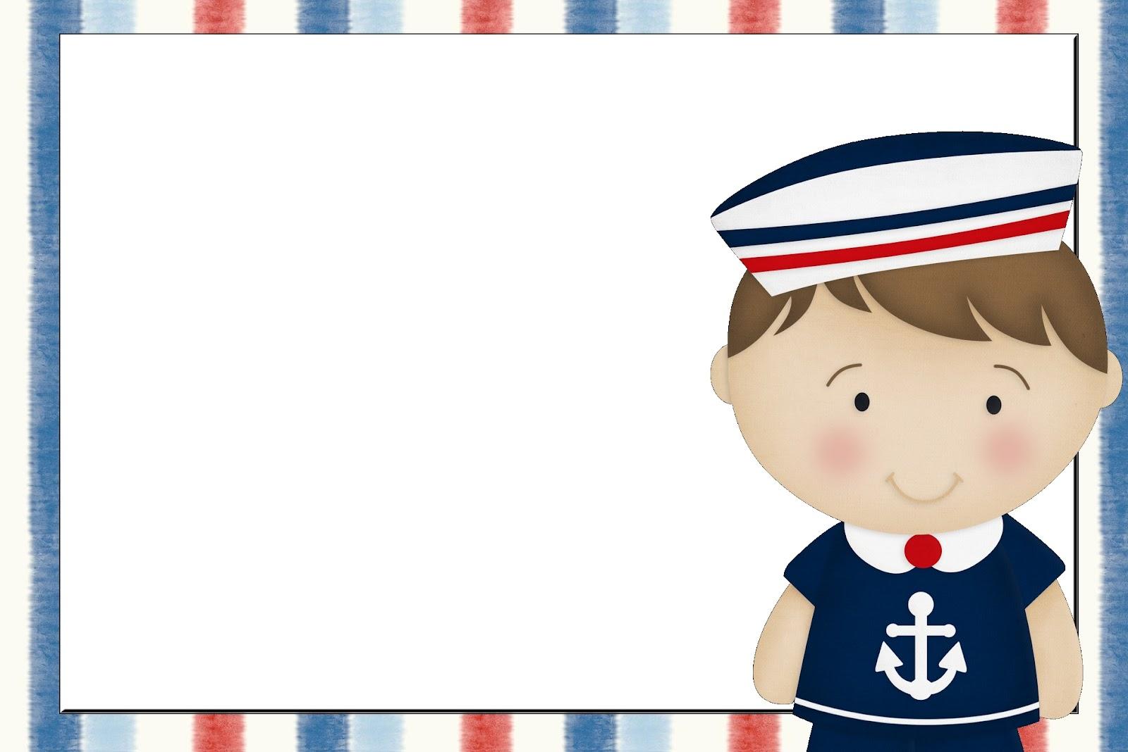 Populares Convites do tema Marinheiro para imprimir - Dicas pra Mamãe LS25