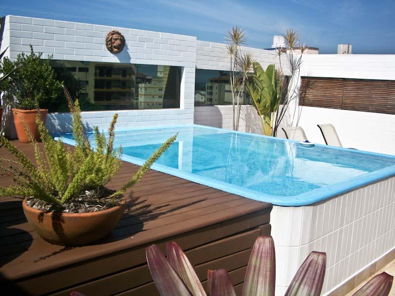 Arquiteta evelyn luci cobertura com piscina - Piscinas pequenas prefabricadas ...
