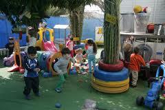 Обучение навыкам на детской площадке