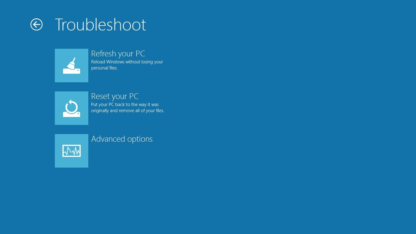 how to turn on blue screen windows 8
