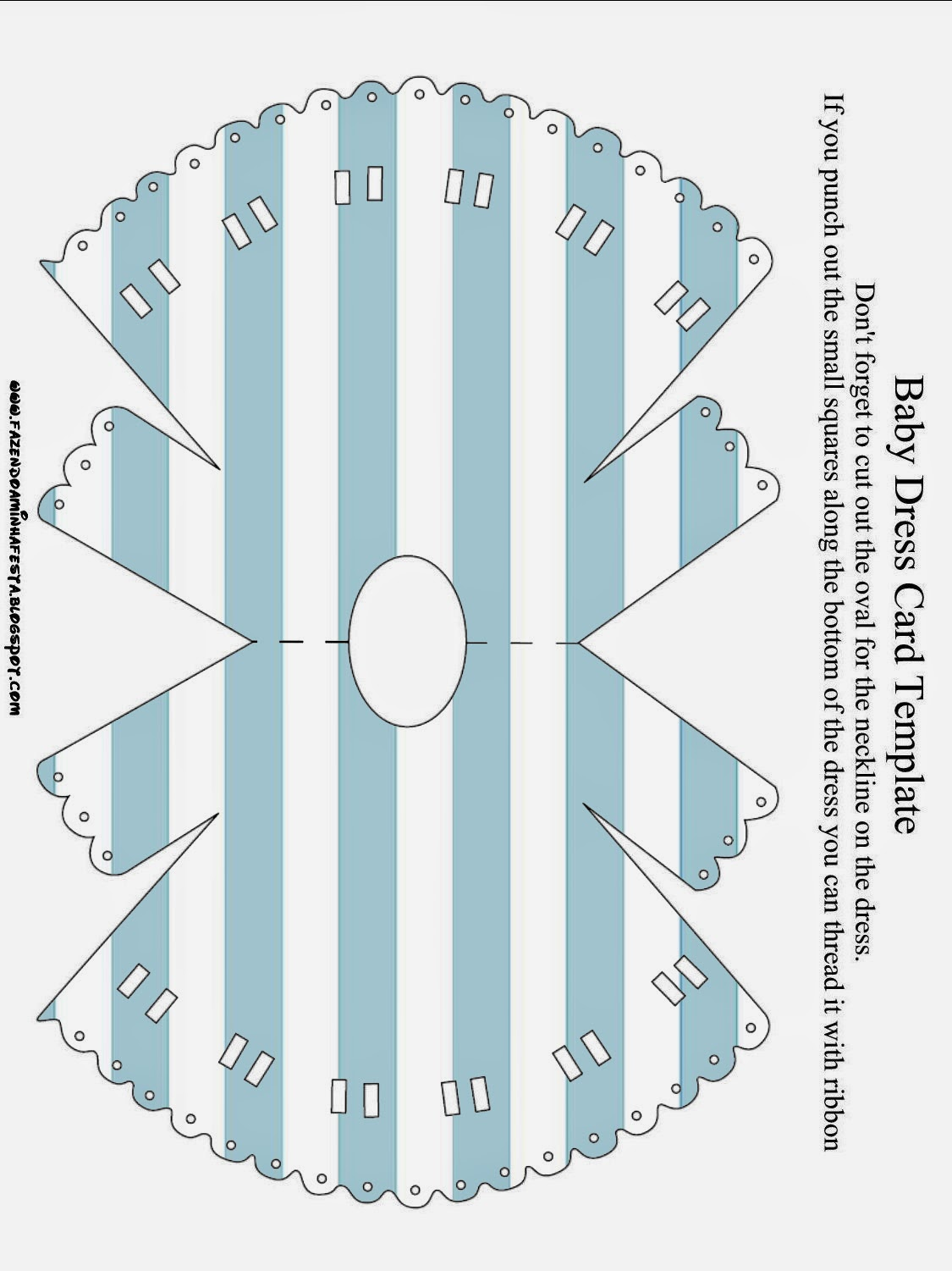 light blue and white stripes and polka dots free printable