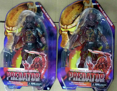 NECA Predator Series 10 Lava Planet Predator Figure - Packaged