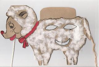 Máscara de cordeiro -símbolo da páscoa