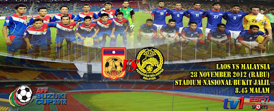 Live Streaming Malaysia vs Laos 28 November 2012