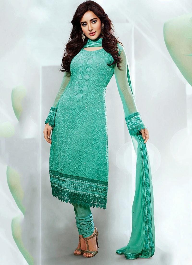 Albarino Net Designer Churidar Suits 2014