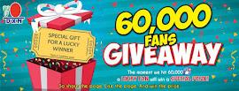 DXN Fans Contest : 60k Fans Giveaway