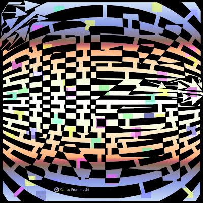 Maze art of a Chinese Symbol