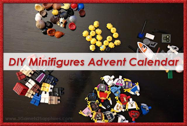 DIY LEGO Minifigure Advent Calendar  |  www.3Garnets2Sapphires.com