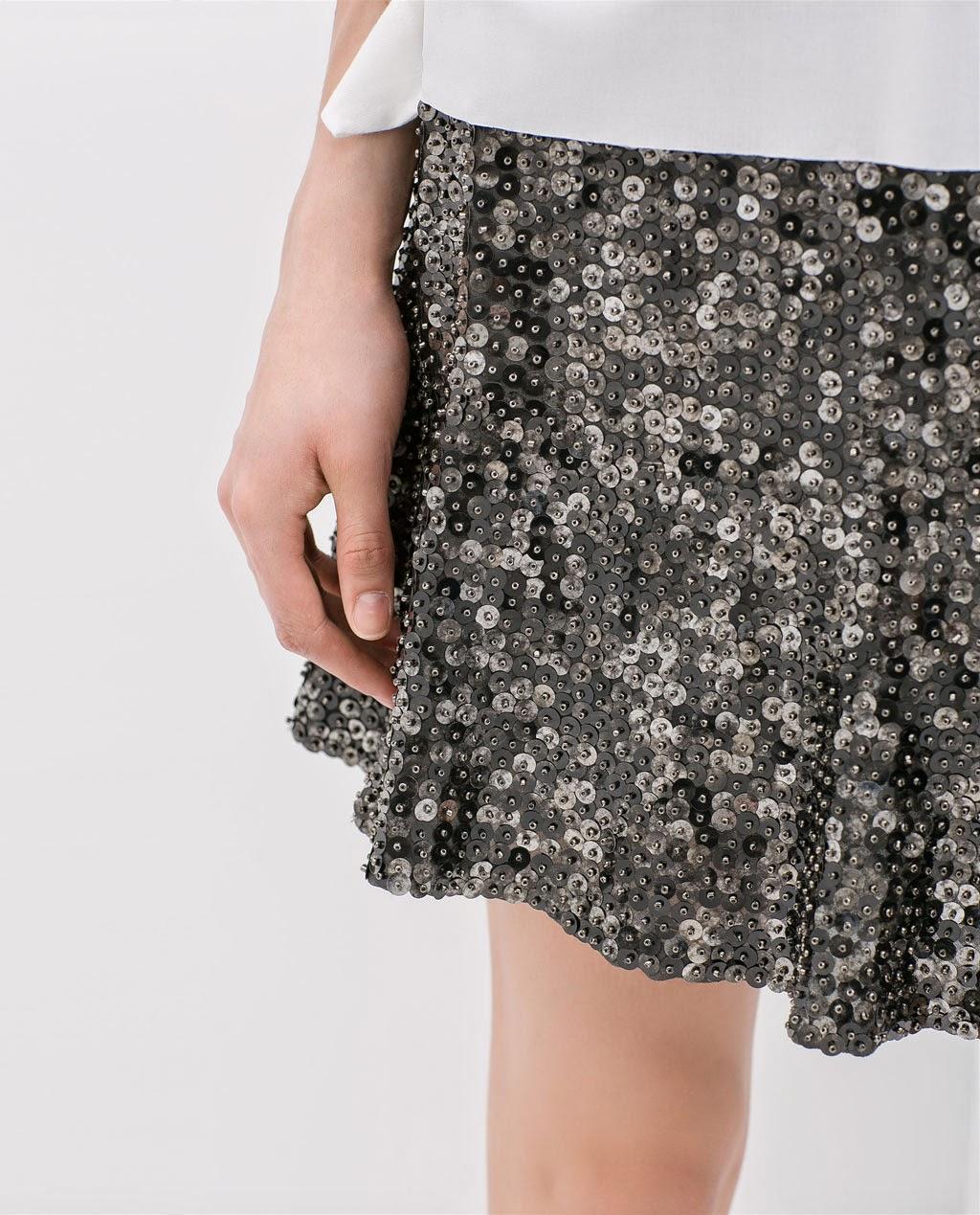 Skird, falda, street style, Zara, fashion style, lentejuelas