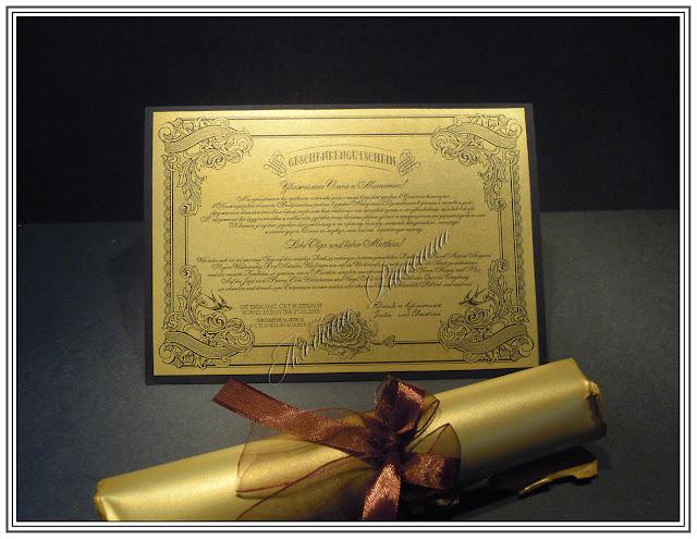 Подарочный сертификат на свадьбу.