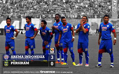 Wallpaper Skuad Arema Malang Indonesia ISL Edisi 11 Februari 2013