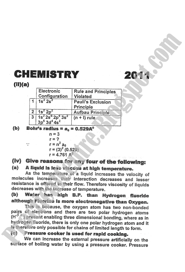 Chemistry-Numericals-Solve-2011-five-year-paper-class-XI