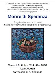 #MORIREDISPERANZA - Lampedusa 3 ottobre 2014