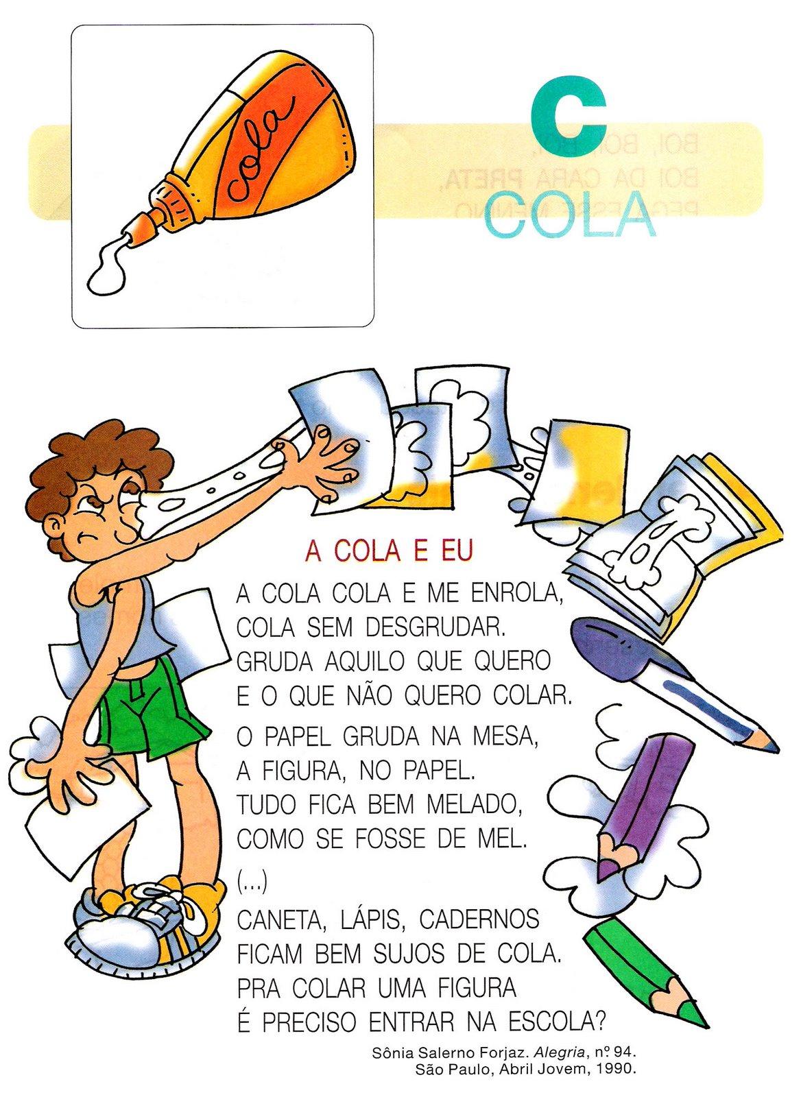 84 textos para alfabetização atividades para colorir