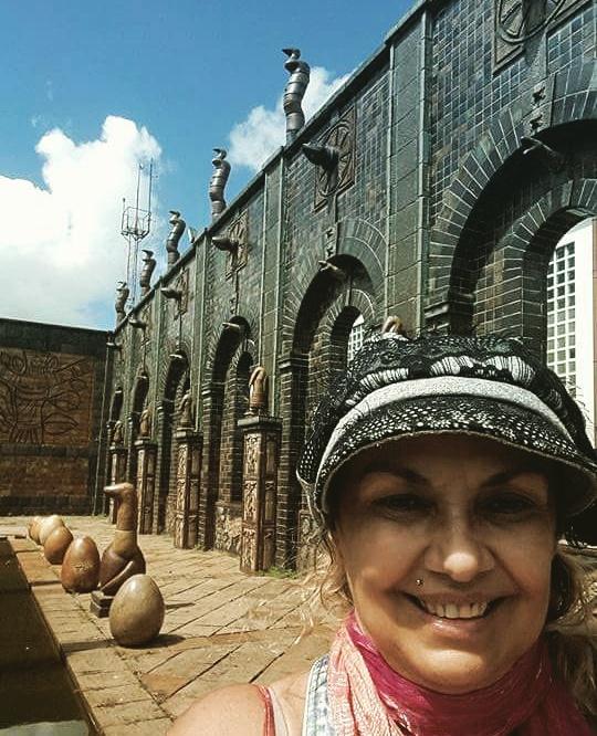 Recife, eu na oficina do Brennand..FB