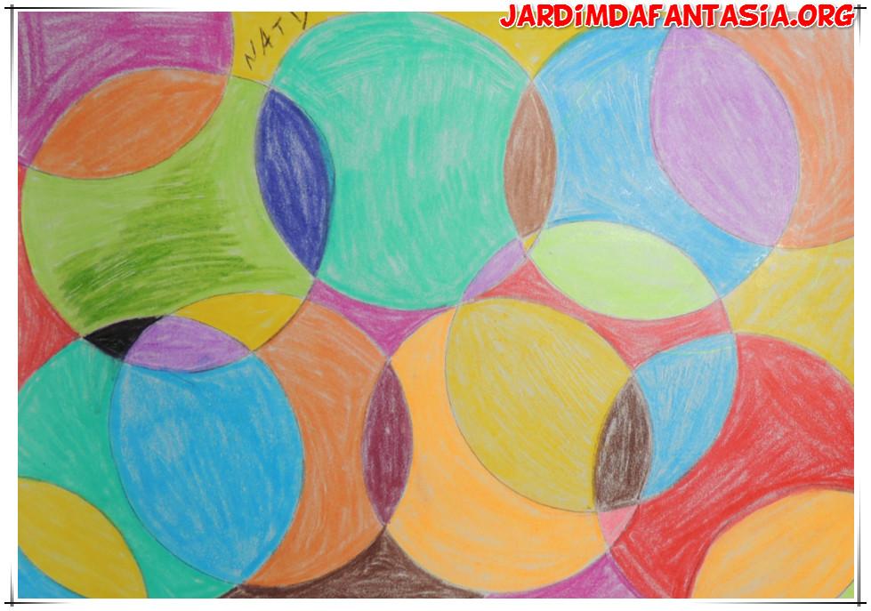 Super Atividades Jardim da Fantasia: Artes Manuais Pintura em Círculos XI68