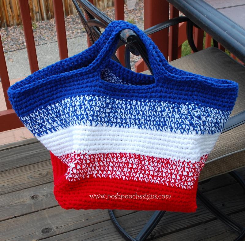 Posh Pooch Designs Dog Clothes: Big Striped Bag Crochet Pattern