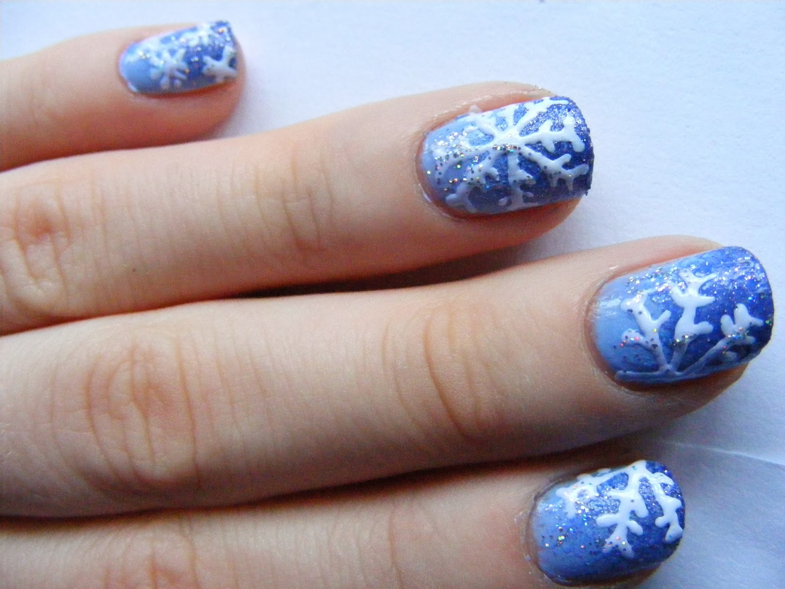 oh hey there rachel: Christmas Nails; Snowflake Nail Art Tutorial