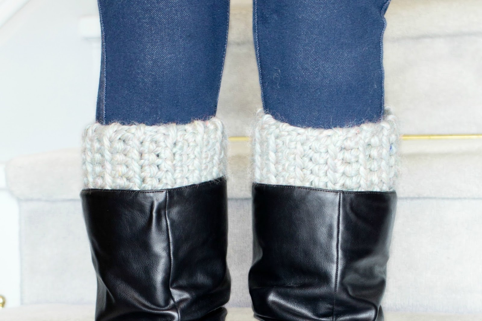 Crochet Boot Cuff Pattern Bulky ~ Pakbit for .